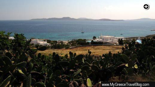 View toward Delos and Rinia islands from Agios Ioannis Mykonos