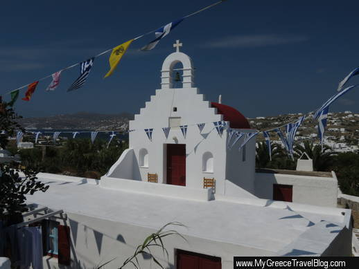 church near Ornos Mykonos