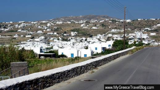 Ornos area of Mykonos