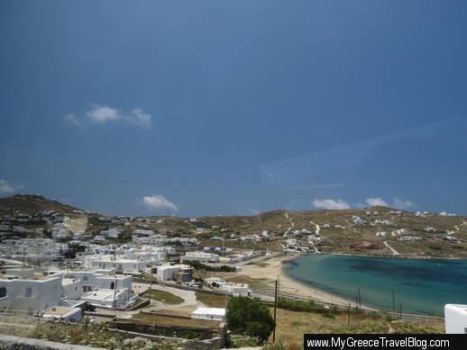 Ornos resort area of Mykonos