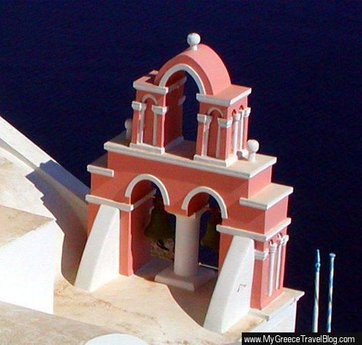 Oia church belltower