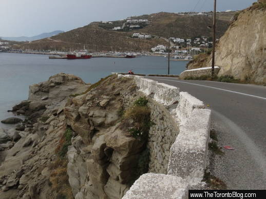 Mykonos port road