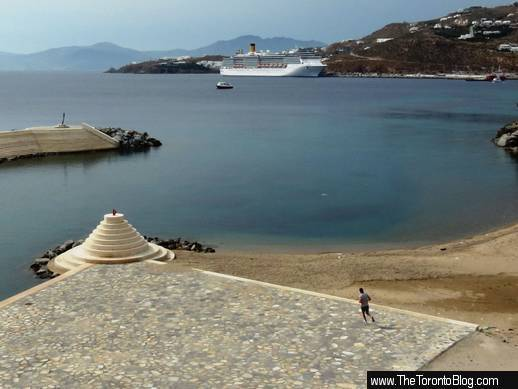 new Mykonos Town marina