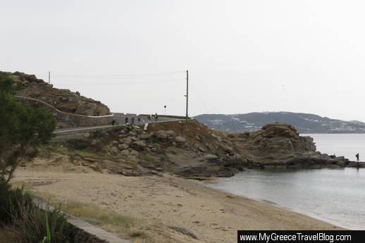 road to Mykonos Old Port