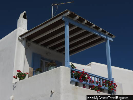 terrace at Ornos Mykonos