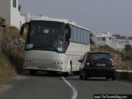 coastal road near Mykonos Old Port