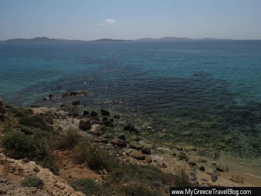 coast near Kapari beach Mykonos