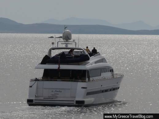 yacht at Mykonos