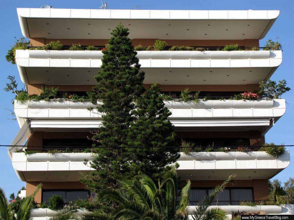 Balconies on a Glyfada midrise residential building