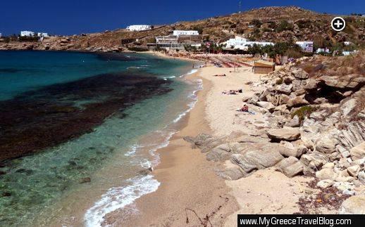 Paradise Beach on Mykonos