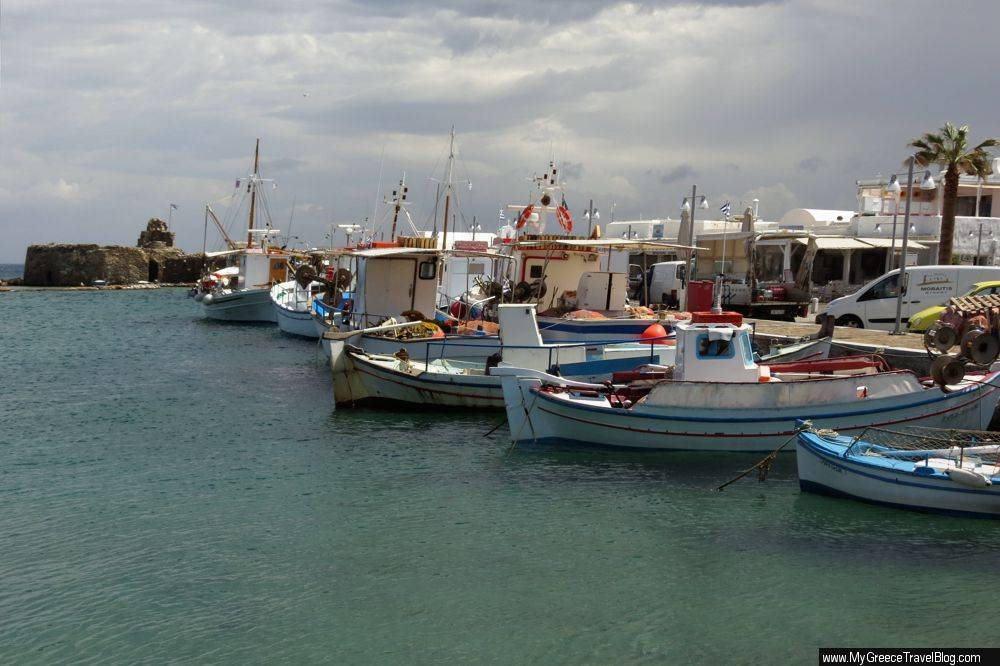 fishing boats near the Venetian fortress
