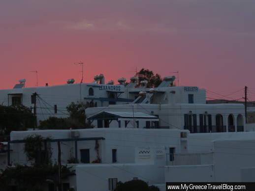 Naoussa sky at sunset