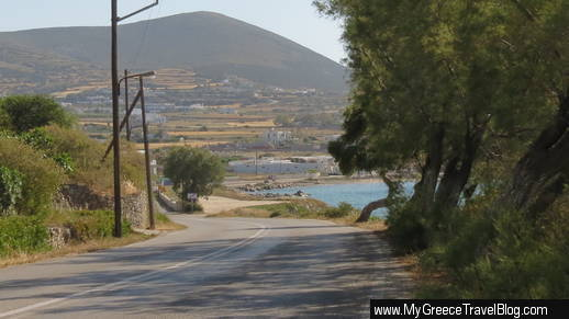 road from Naoussa to Parikia