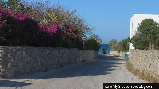 road in Livadia on paros