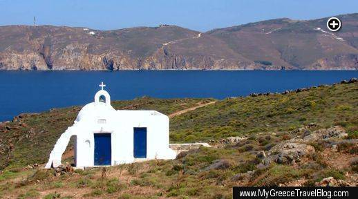This chapel above Agios Sostis on Mykonos is dedicated to Agios Iakovos