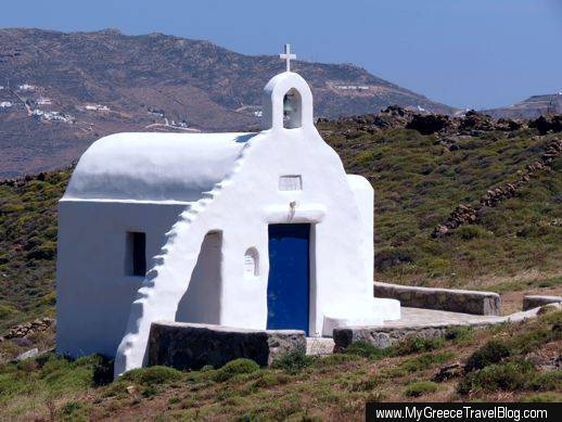 Agios Iakovos chapel at Agios Sostis Mykonos