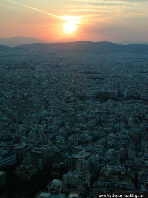 City of Athens at sunset