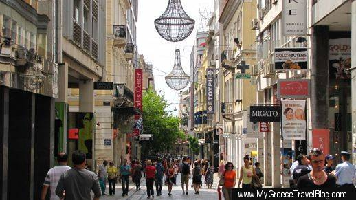 Ermou Street in central Athens