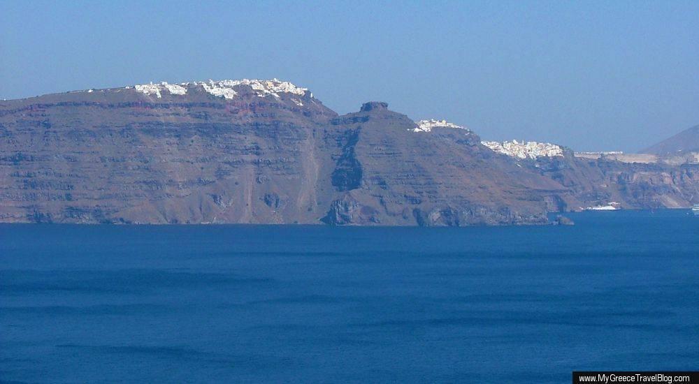 Views from Oia village on Santorini