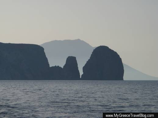 Antimilos island and Cape Vani on Milos