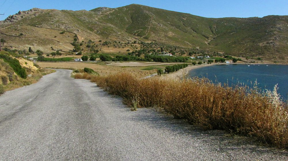 Stavros bay and beach on Patmos