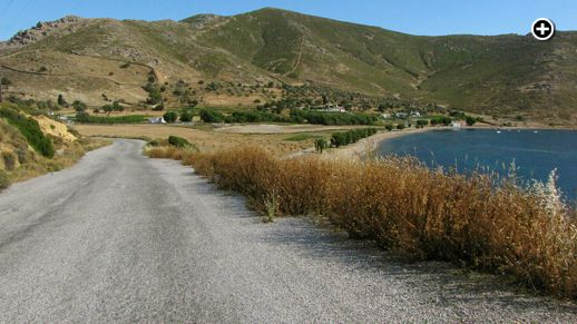 The Stavros beach and bay area on Patmos