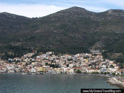 Vathy the main city on Samos