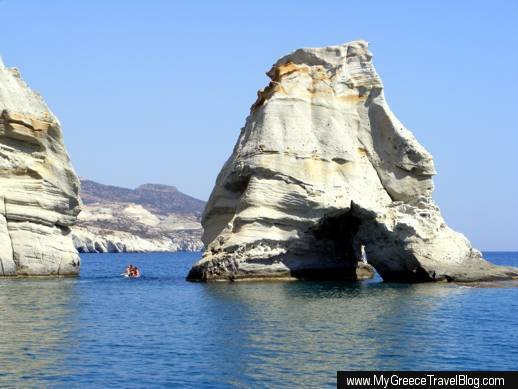 rock formations at Kleftiko on Milos