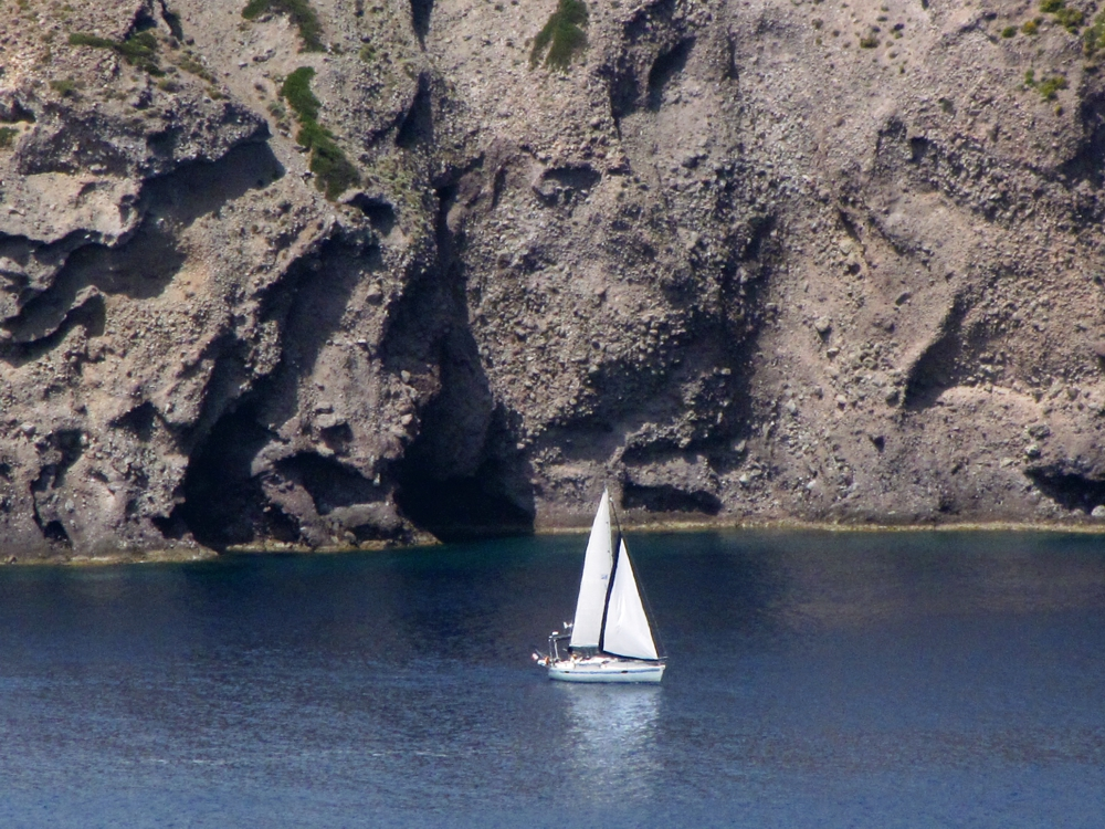 sailboat in the Gulf of Milos