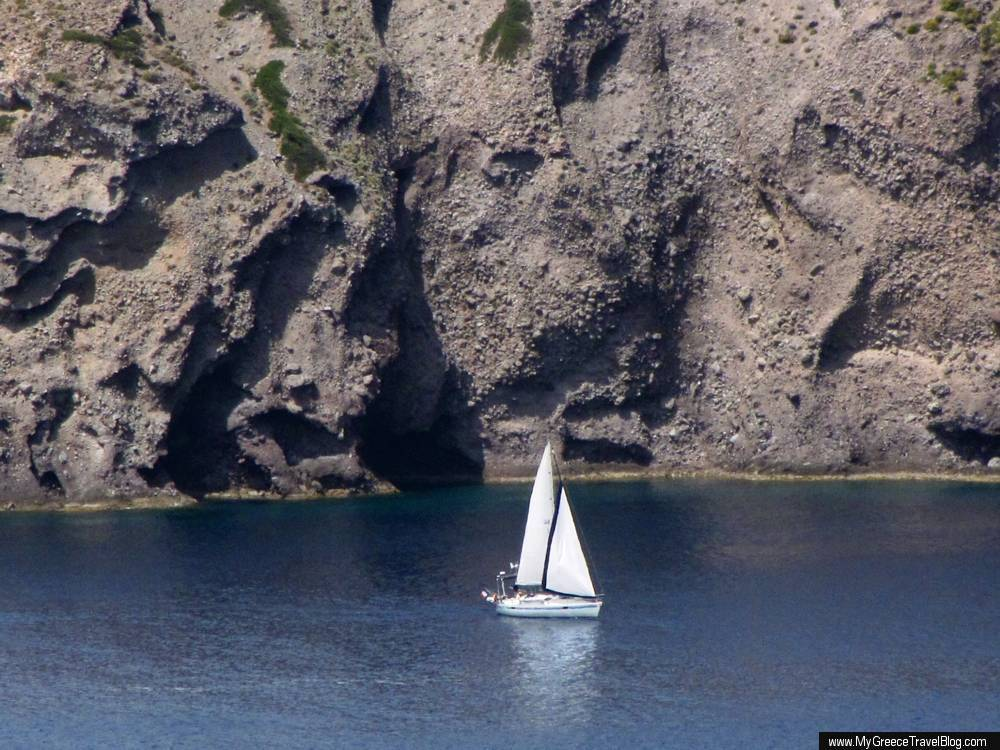 a sailboat in the Gulf of Milos