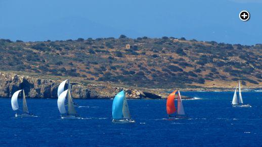 sailboats near Varkiza Greece