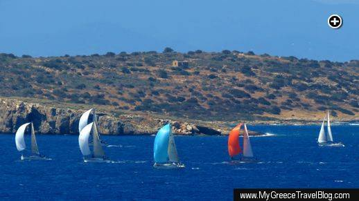 sailboats near Varkiza Greece