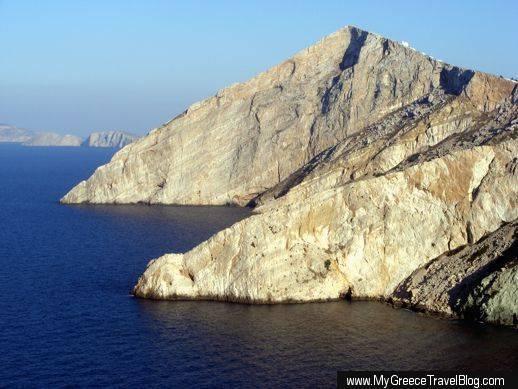 Northeast coast of Folegandros island