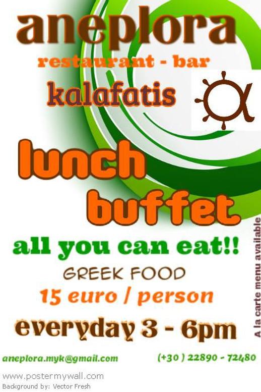 Aneplora restaurant at Kalafatis Mykonos