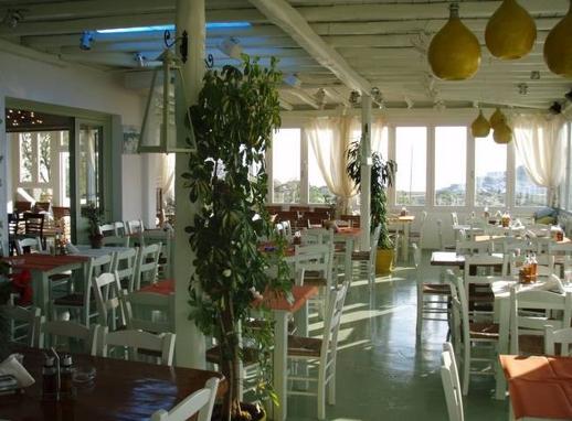 Aneplora restaurant at Kalafatis on Mykonos