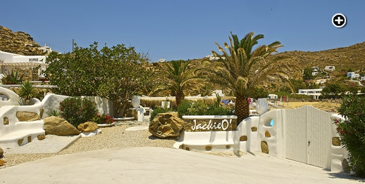 the new Jackie O' Beach Club at Super Paradise beach Mykonos