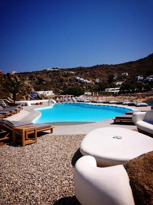 Jackie O' Beach Club pool Super Paradise Mykonos
