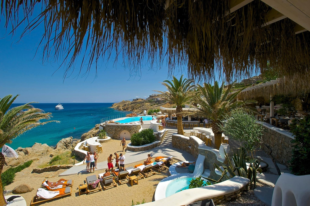 Jackie O' Beach Club at Super Paradise beach Mykonos photo