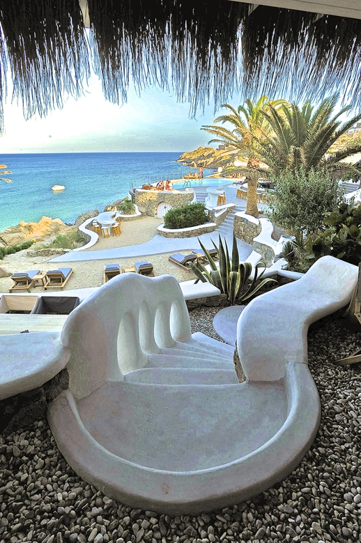 Jackie O' Beach Club at Super Paradise beach Mykonos