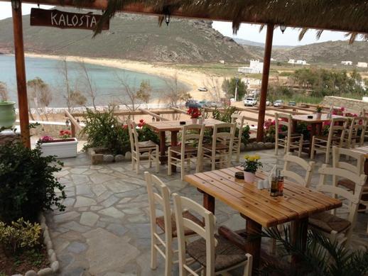 Kalosta restaurant Panormos beach Mykonos