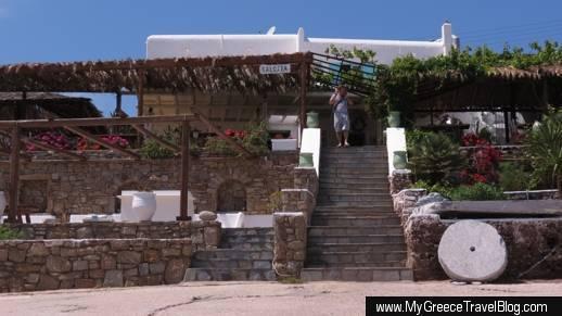 Kalosta restaurant Panormos Mykonos