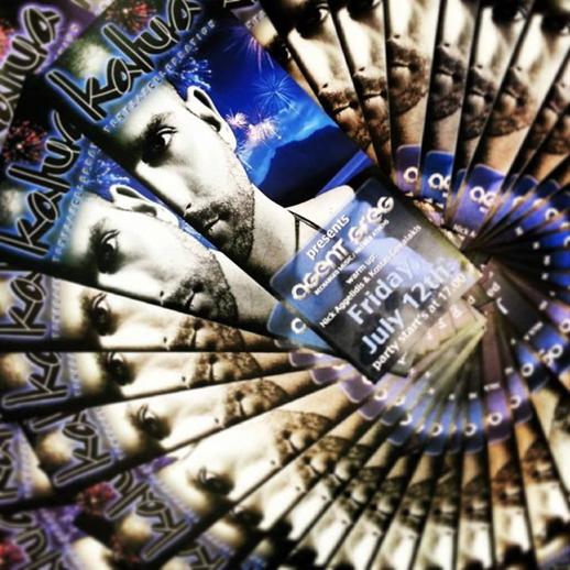 July 12 Agent Greg DJ event poster for Kalua Bar Mykonos
