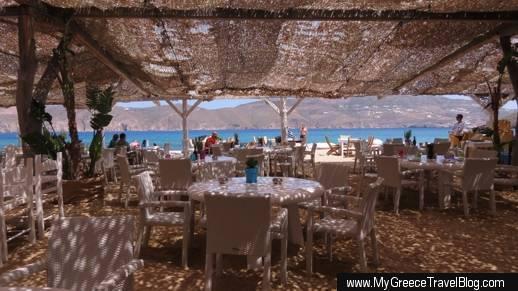 Panormos beach restaurant and bar Panormos beach Mykonos