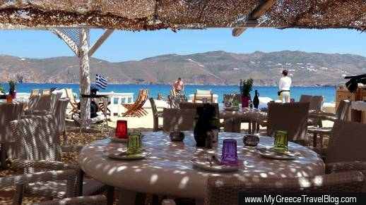 Panormos beach restaurant and bar Mykonos