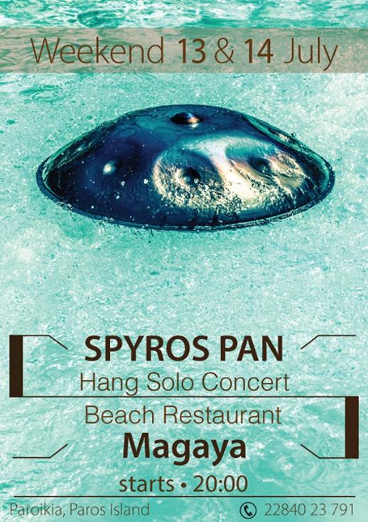 Spyros Pan concert poster