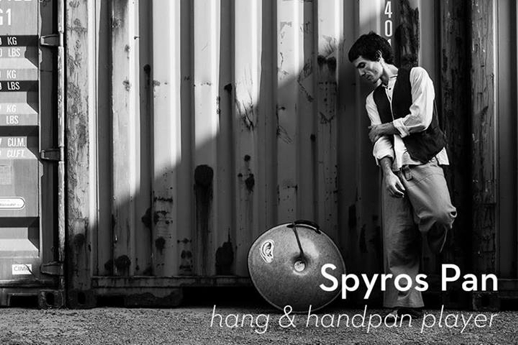 Spyros Pan hang and handpan player