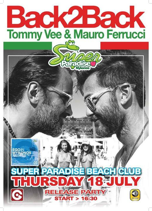 Super Paradise beach club party on July 18 2013