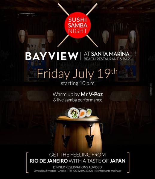 Bayview at Santa Marina Beach party poster