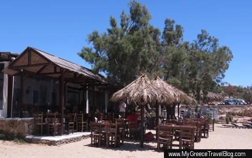 Tasos Taverna at Paraga beach Mykonos