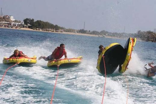 Tube ride at Platis Gialos beach Mykonos